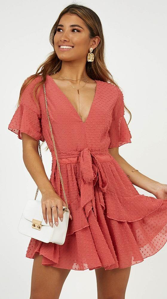 Showpo Rose Ruffled Dress