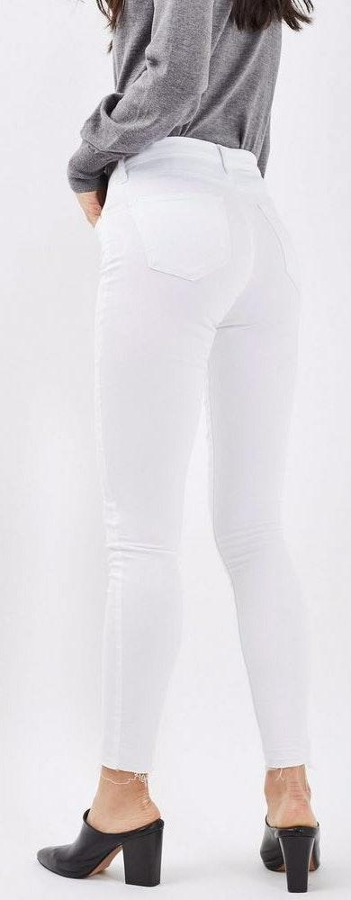 Topshop White High Rise Skinny Jeans