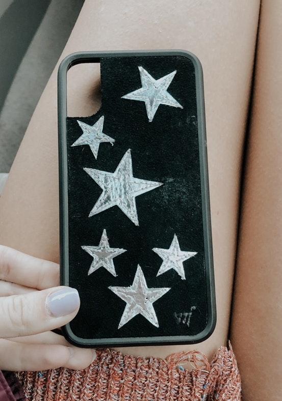 Wild Flower Velvet Star Case I Phone X
