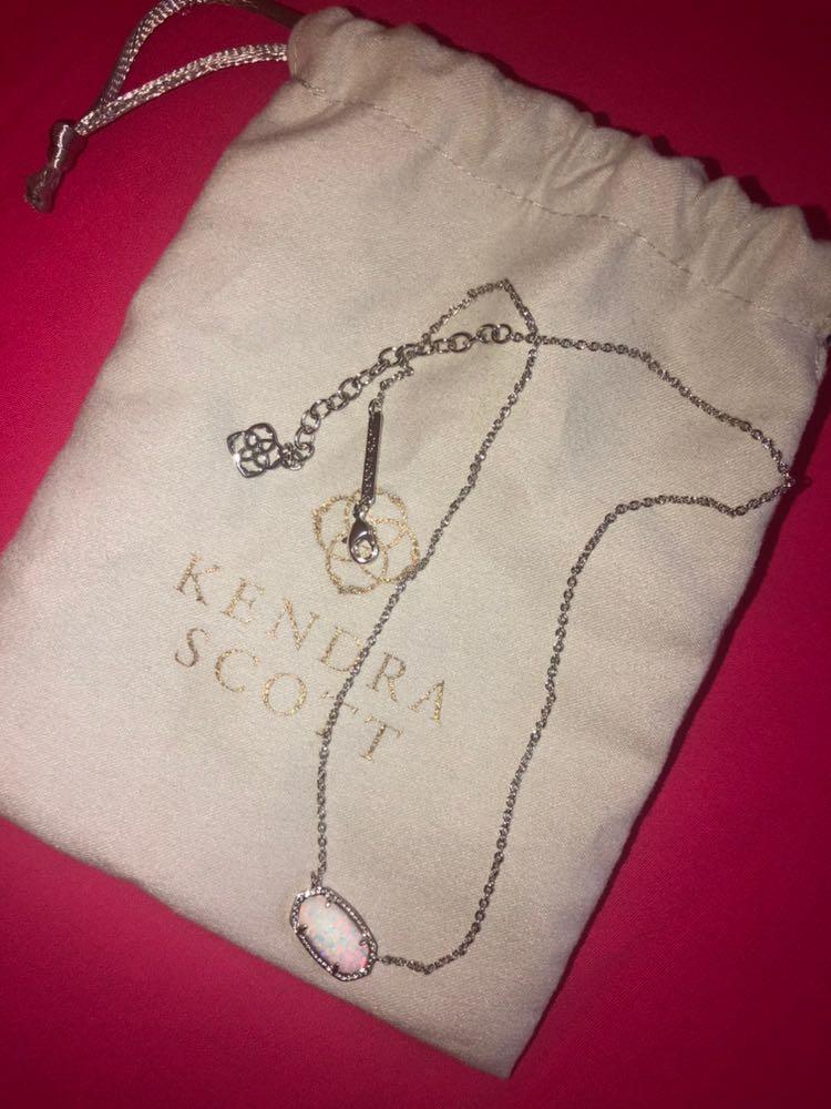 Kendra Scott Silver Elisa Pendant Necklace