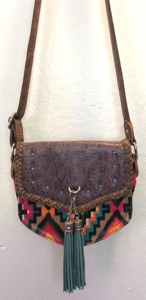 Western Cross Body Bag With Fringe Tassel