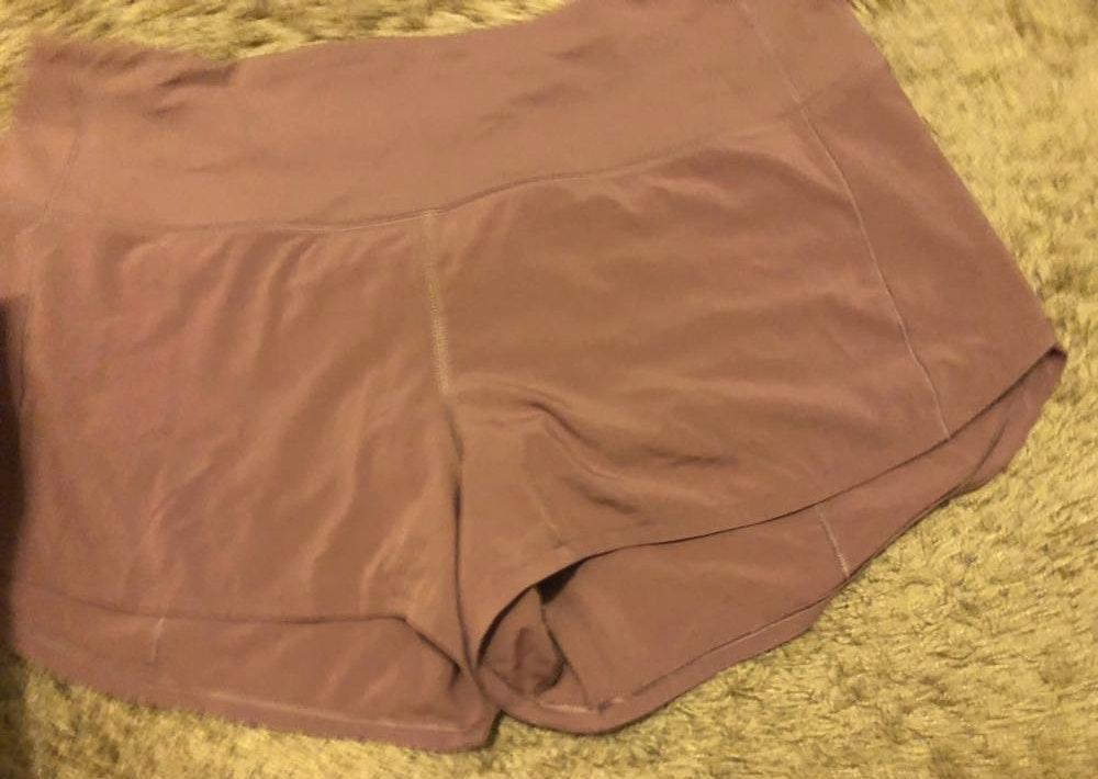 Lululemon Pink Speed Up Shorts Curtsy