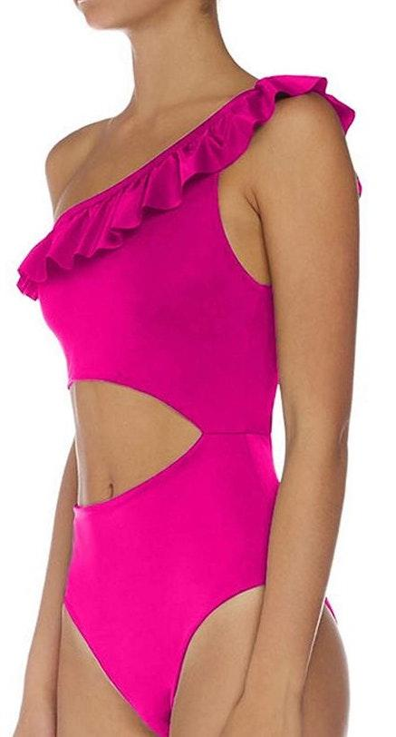 Amazon Pink Cut Out One Piece