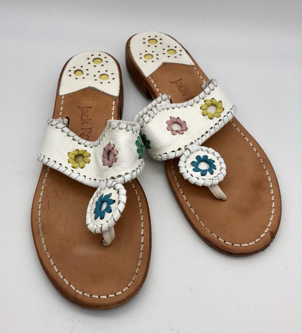 Jack Rogers White Flip Flops Sandals