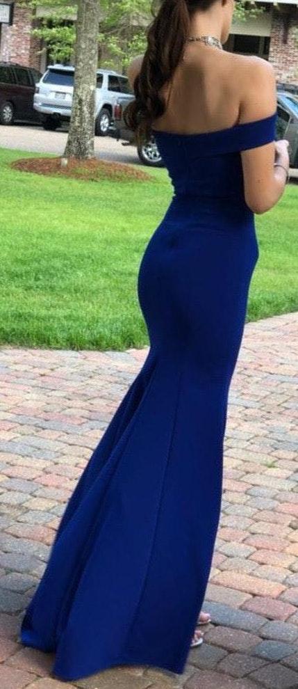 Lenovia Royal Blue Prom Dress
