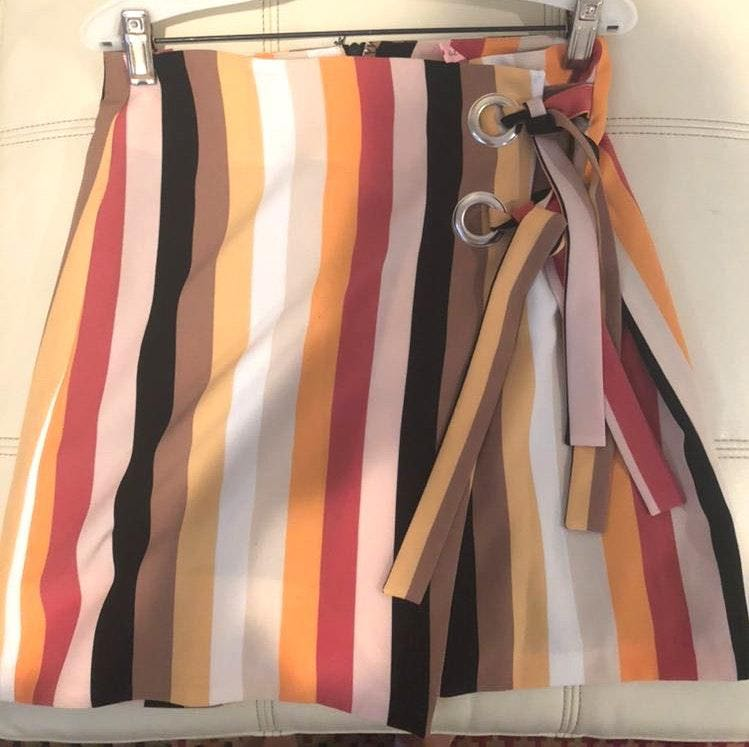 Urban Outfitters colorful stripped skirt