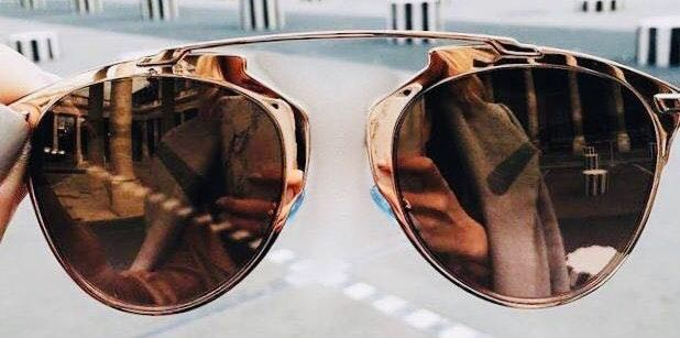 Urban Outfitters Rose Gold Reflective Sunglasses