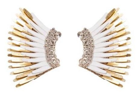 Mignonne Gavigan White Mini Madeline Earrings Curtsy