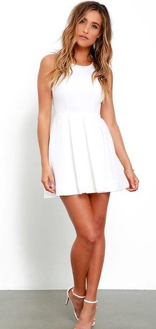Lulus WHITE MINI LULU's DRESS