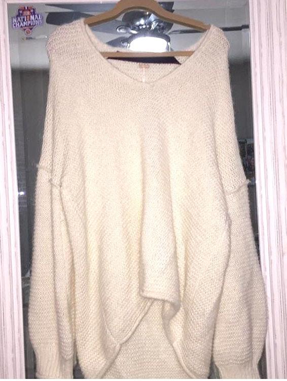 Free People Chunky White Sweater