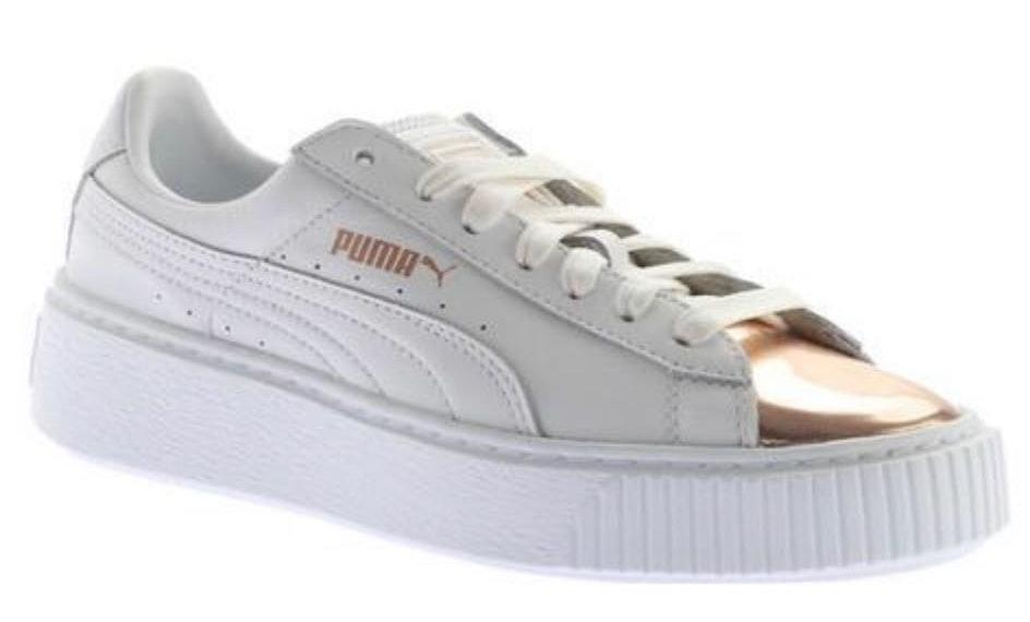 Puma White And Rose Gold  Sneakers