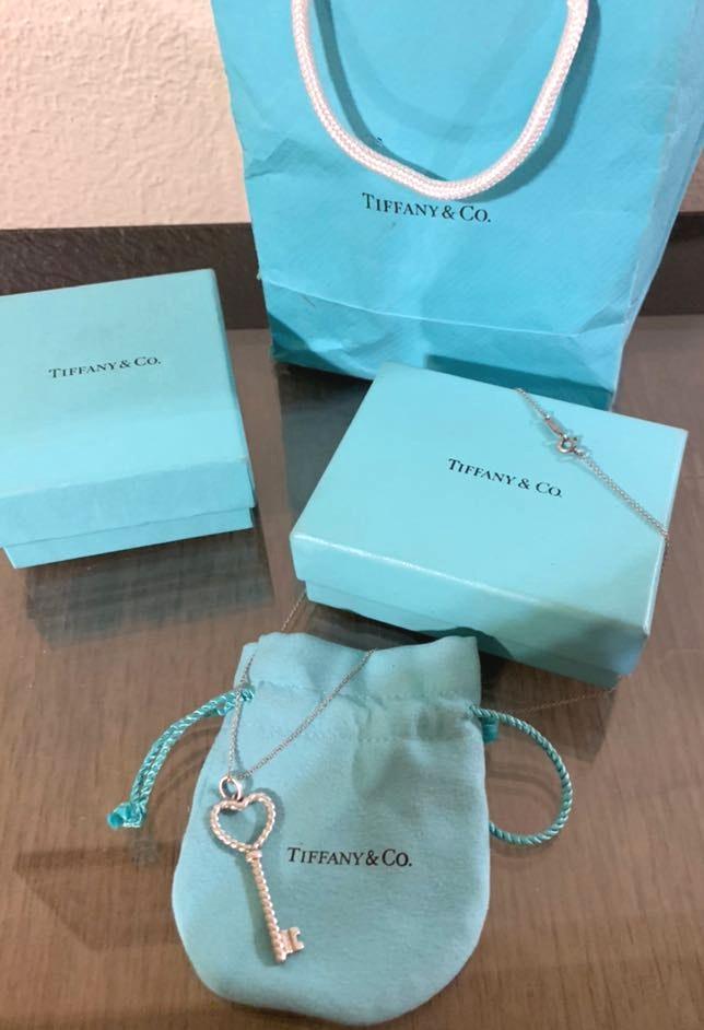Tiffany & Co. Tiffany & Co Necklace With Heart Key