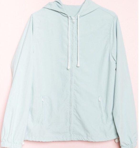 Brandy Melville light Pink light weight zip up hoodie krissy windbreaker jacket