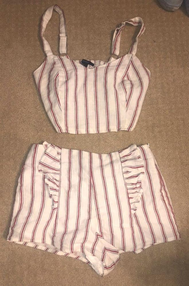 Forever 21 Striped Set