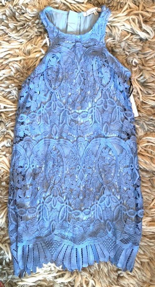 Lovers + Friends Blue Lace Dress