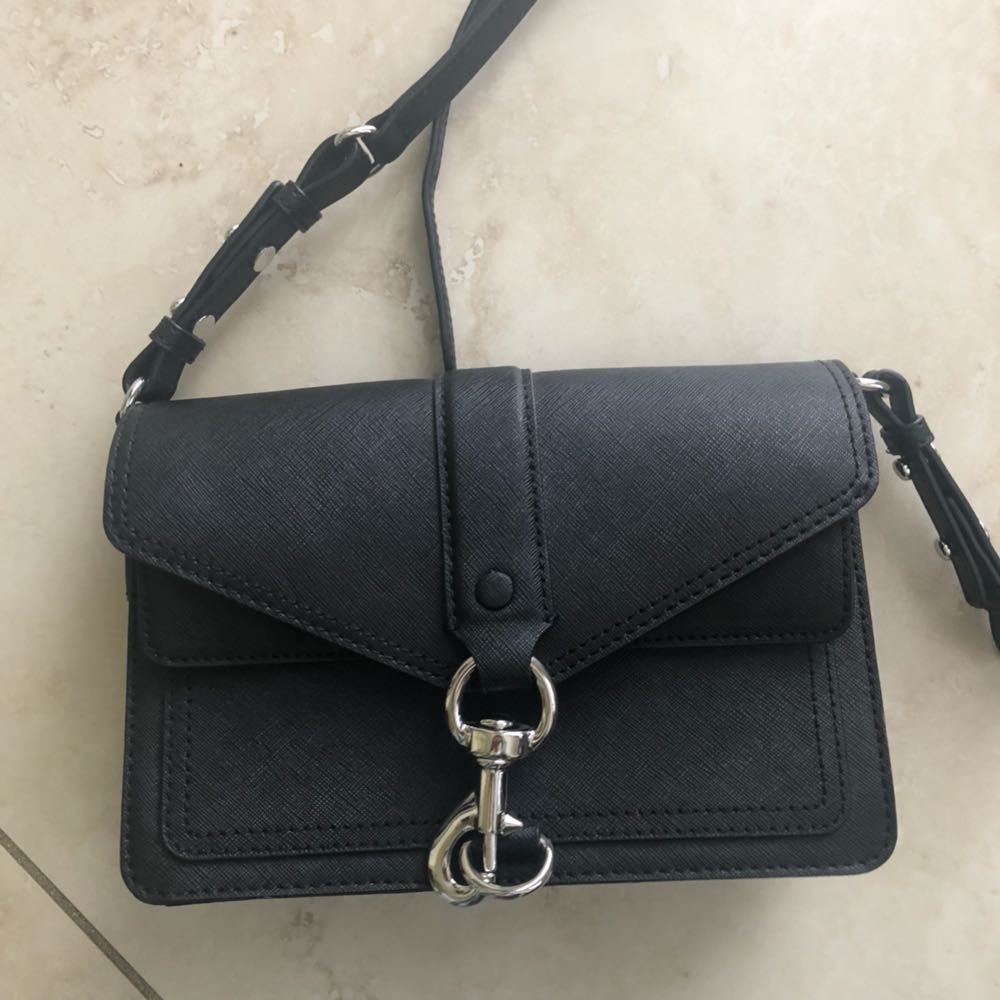 Rebecca Minkoff New Black Leather Crossbody Bag