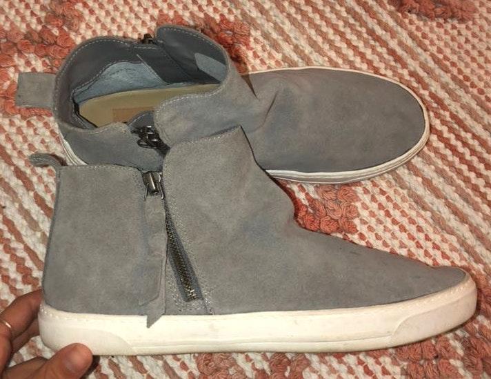 Dolce Vita Grey Slip On Sneakers