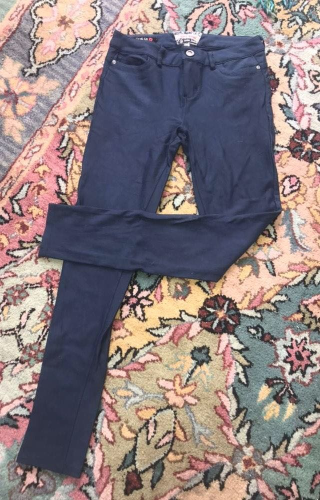Hot Kiss Navy blue jeggings