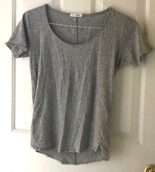 Rag & Bone Grey Swoop Neck T-shirt