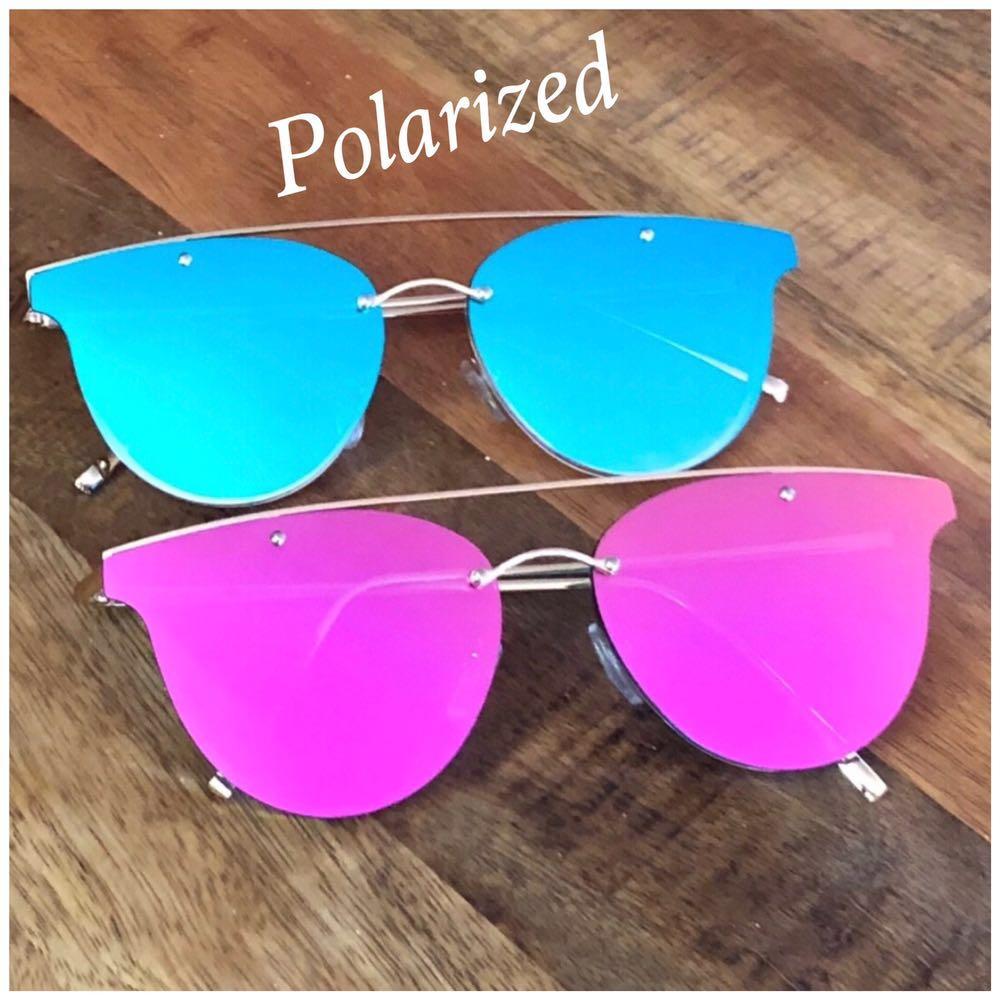 Sexy Hot Pink Mirrored Sunglasses