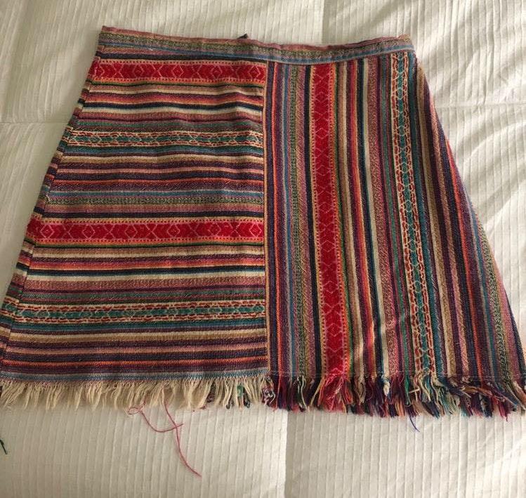 Hello Molly Striped Multicolor Mini Skirt