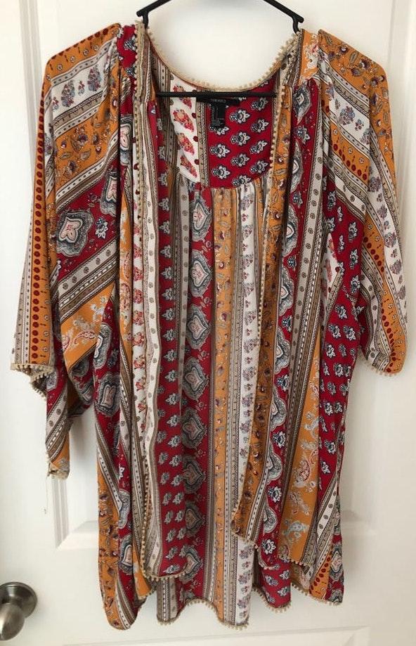 Forever 21 Multicolor Kimono