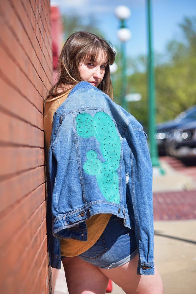 Handpainted Fortuity Cactus Jacket