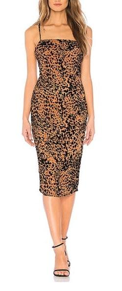 by the way. Leopard Midi Dress