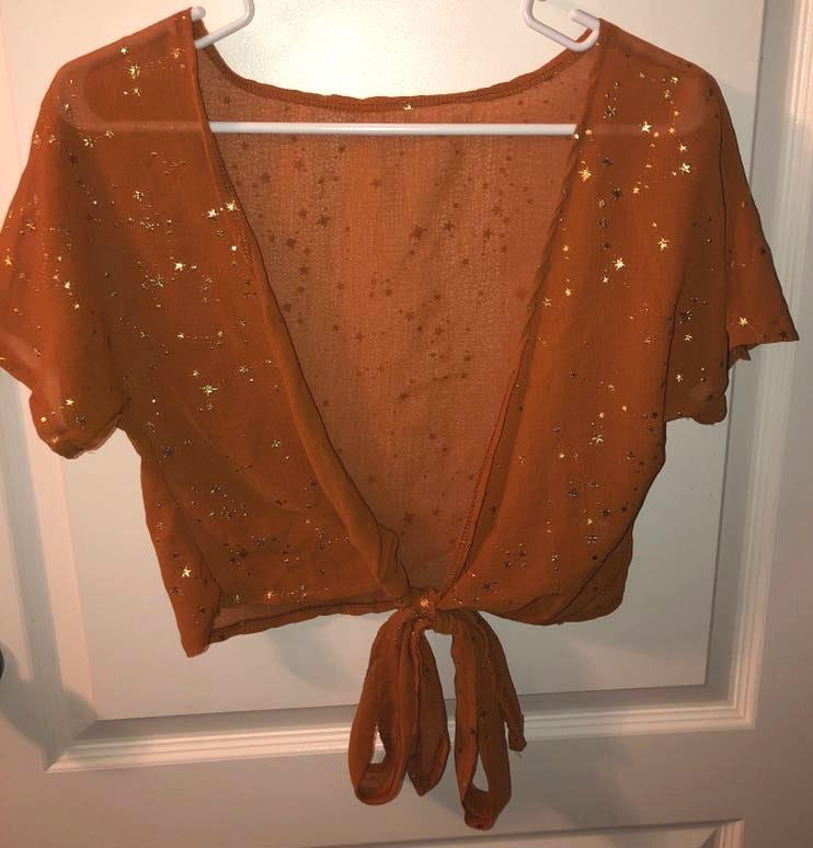 SheIn Orange Shirt With Stars