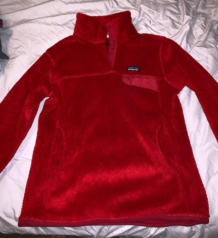 Patagonia Red Fleece Women's  Pullover