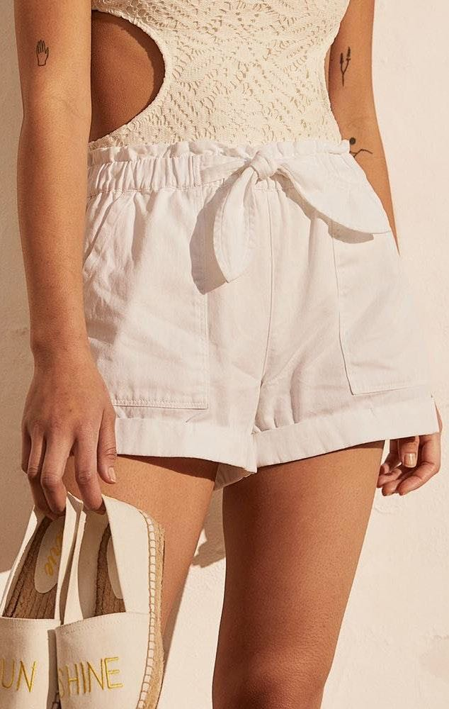 Aerie White Ruffle Shorts