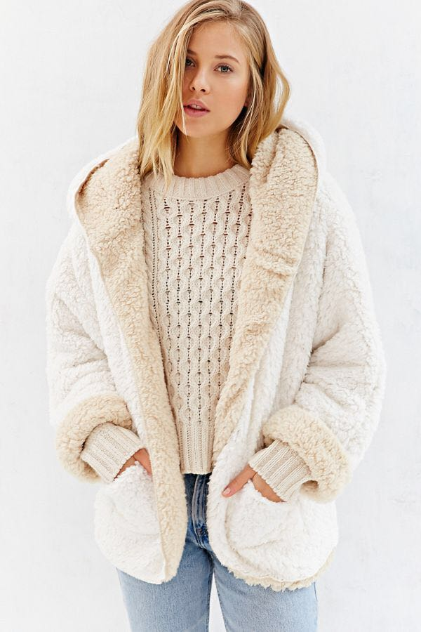 Urban Outfitters Ecote Reversible Teddy Bear Jacket