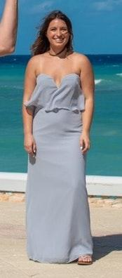 Hayley Paige Occasions Light Blue Bridesmaid Dress
