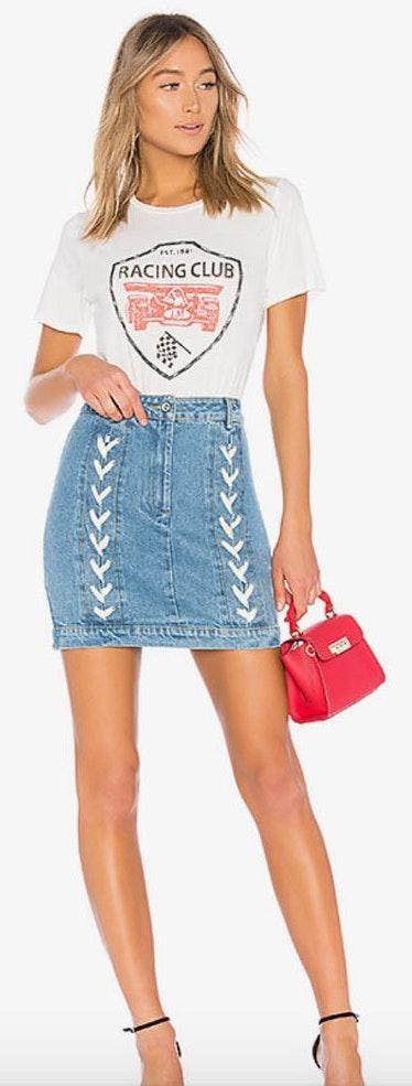 Revolve Lace Up Skirt