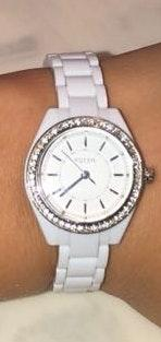 Fossil stella white mini watch
