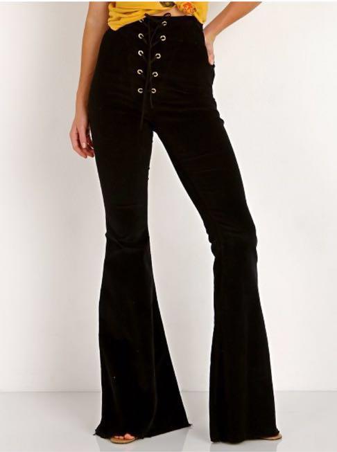 Show Me Your Mumu Black Flare Pants