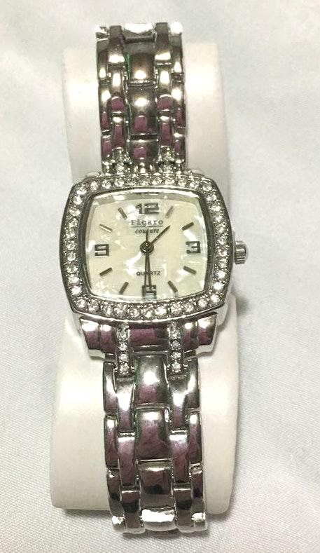 Figaro Couture Silver Watch