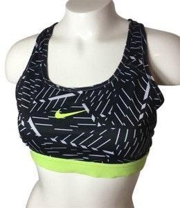 Nike Dri Fit Neon Yellow Sports Bra Curtsy