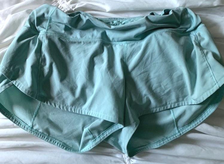 Lululemon mint green lulu shorts