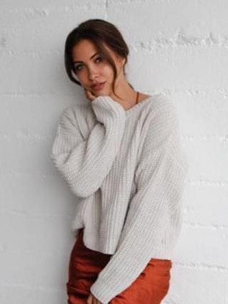 American Threads Cream Sweater