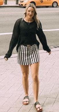 Forever 21 Black & White Striped Skirt