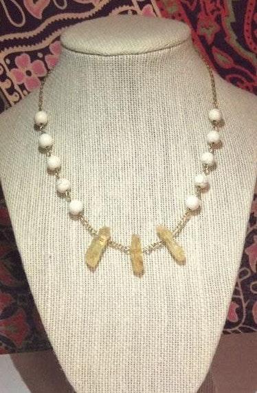 Handmade Triple Crystal Necklace