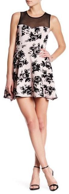 Trixxi Rose Print Dress