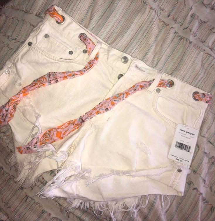 Free People White Shorts