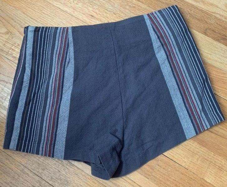 Free People Stripped High Waisted Shorts