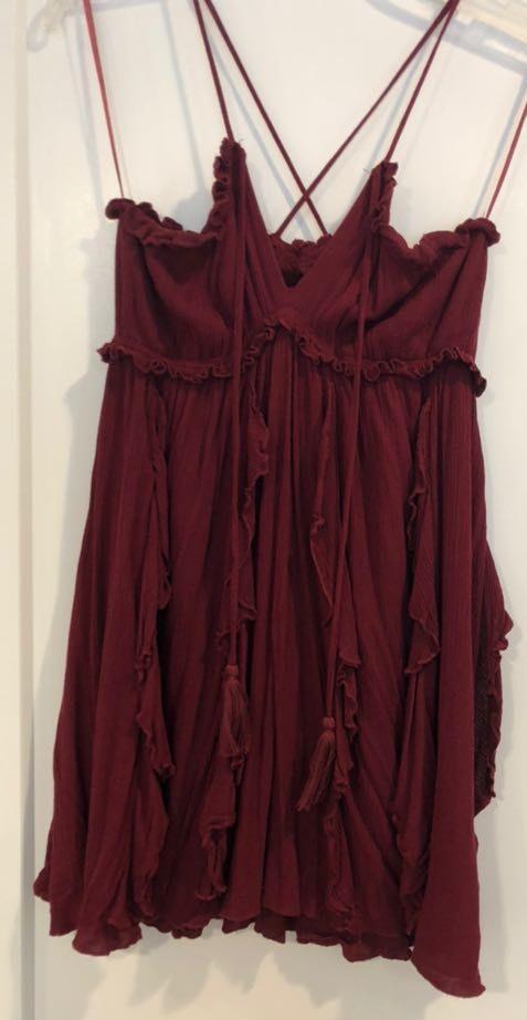 Cotton Candy LA Maroon Dress