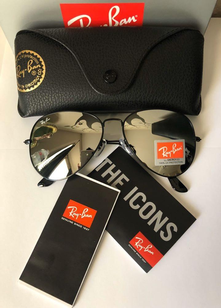 Ray-Ban Ray Ban Aviator Oversized Silver Mirror Lens RB3026
