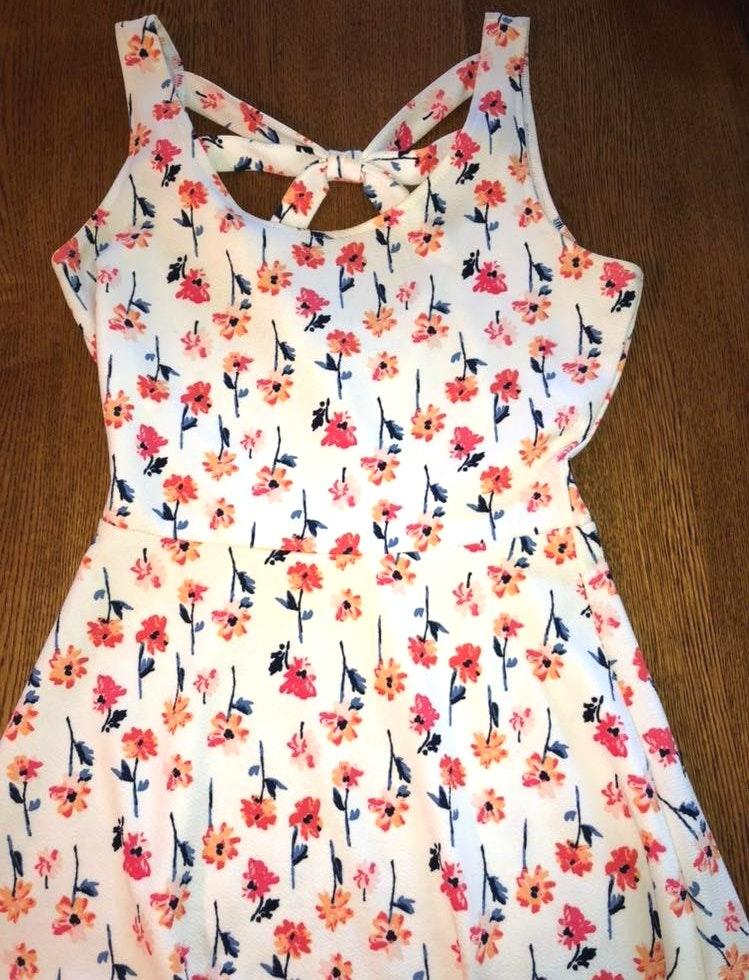Maurice's White Floral Spring Dress