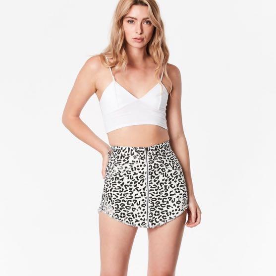Carmar Denim Beatrice Zip Front Skirt