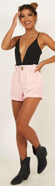 Showpo Pink Corduroy Shorts